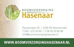 Boomverzorging Hasenaar - Visitekaartje van af 2013